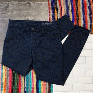 BlankNYC Paisley Print Skinny Jeans